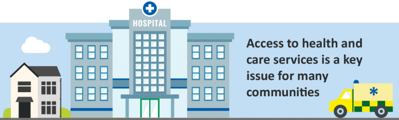 Access to health and care services is a key issue for many communities
