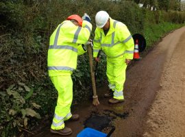 Pothole filling trials