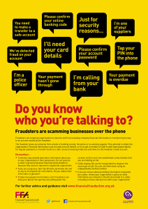 Financial Fraud Action posters and leaflets available to download