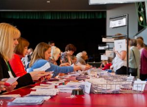 sorting ballot papers