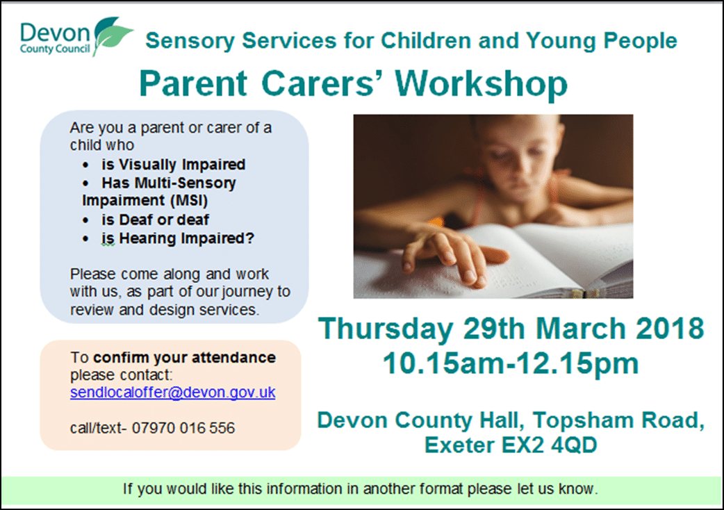 poster for the parent event on 29th March
