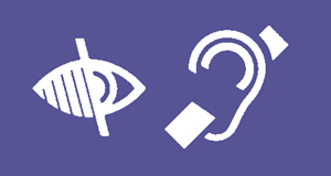 symbols for visual impairment and hearing impairment