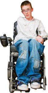 wheelchair user in wheelchair