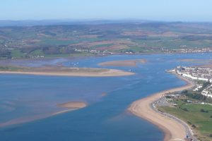 aeriel shot of the Exe Estuary