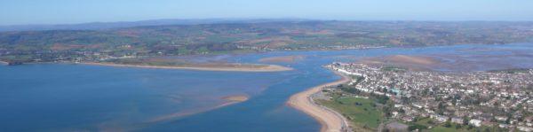 Exe Estuary aeriel shot