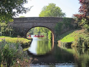 Kayaking on the Grand Western Canal - by Clive Wilton