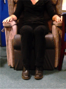 sitting in a chair that is the right size