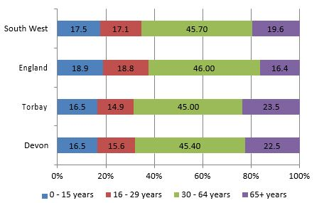 Figure 1 - Structure of the Population by Age Group, 2013
