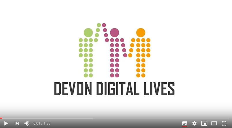 Devon Digital Lives logo still