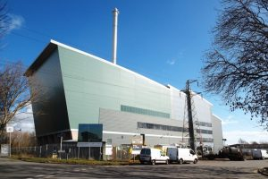 The Exeter Energy from Waste Facility building